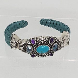 Carolyn Pollack expandable sterling turquoise cuff